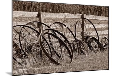 Antique Wagon Wheels I-C^ McNemar-Mounted Photographic Print