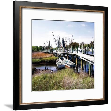 Marsh Harbor Square II-Alan Hausenflock-Framed Art Print