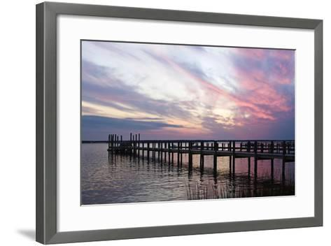Dockside Sunset 3-Alan Hausenflock-Framed Art Print