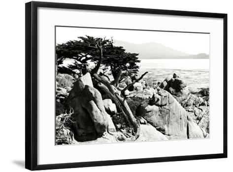 Ocean Cliff II-Alan Hausenflock-Framed Art Print