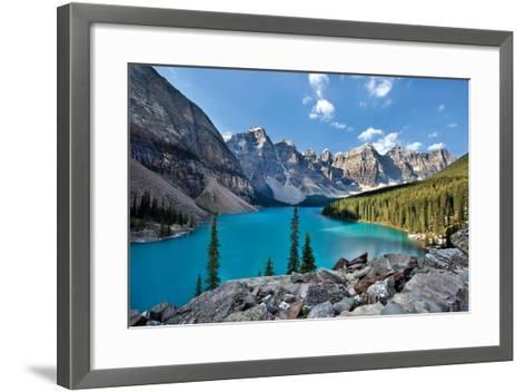 Moraine Lake II-Larry Malvin-Framed Art Print