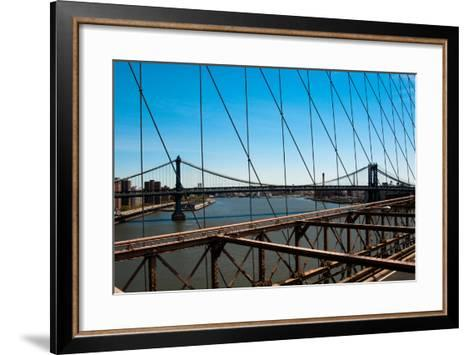 Manhattan Bridge III-Erin Berzel-Framed Art Print