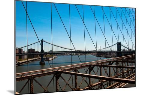 Manhattan Bridge III-Erin Berzel-Mounted Photographic Print
