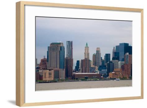 Manhattan Cityscape II-Erin Berzel-Framed Art Print