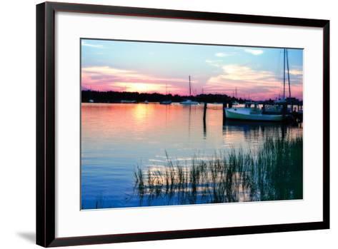 Taylor's Creek Sunset-Alan Hausenflock-Framed Art Print