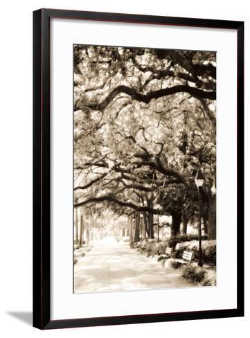Savannah Sidewalk Sepia I-Alan Hausenflock-Framed Art Print