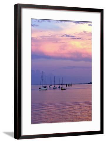 St. Augustine Harbor Sunset 4-Alan Hausenflock-Framed Art Print