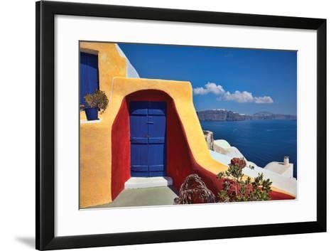Deck Ocean View II-Larry Malvin-Framed Art Print