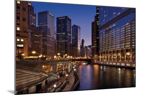 Chicago River Dusk II-Larry Malvin-Mounted Photographic Print
