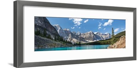 Moraine Lake Panorama-Larry Malvin-Framed Art Print