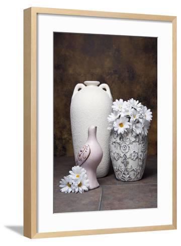 Vases with Daisies II-C^ McNemar-Framed Art Print
