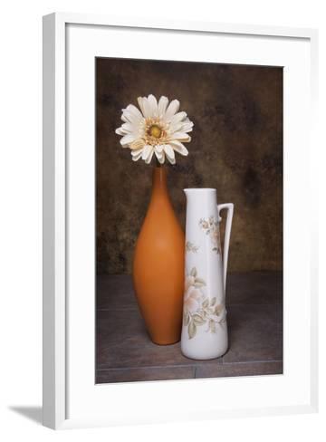 Orange Vase with Pitcher I-C^ McNemar-Framed Art Print