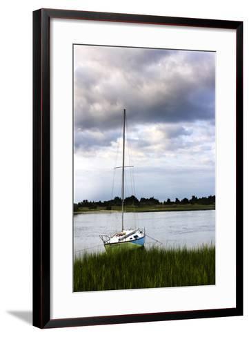 Stormy Sunrise on Taylor's Creek 1-Alan Hausenflock-Framed Art Print