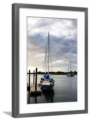 Stormy Sunrise on Taylor's Creek 2-Alan Hausenflock-Framed Art Print