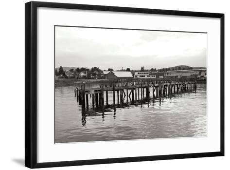 Unsafe Dock BW-Dana Styber-Framed Art Print