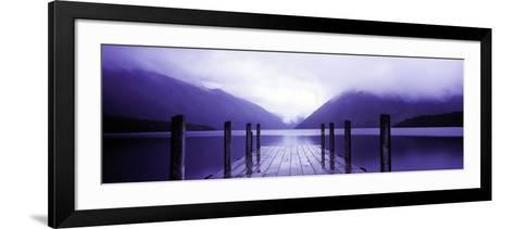 Serene Dock I-Bob Stefko-Framed Art Print