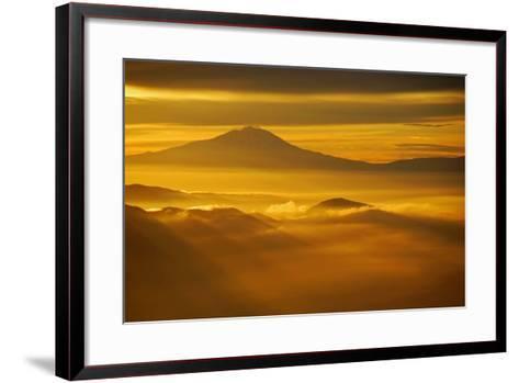 Rainier Sunset II-Brian Kidd-Framed Art Print