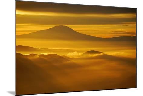 Rainier Sunset II-Brian Kidd-Mounted Photographic Print