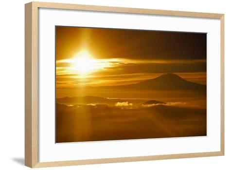 Rainier Sunset I-Brian Kidd-Framed Art Print