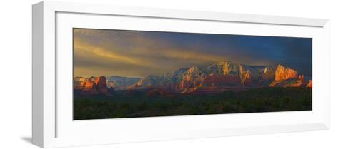 Sedona Sunset-George Johnson-Framed Art Print