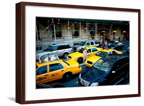 NYC Traffic-Erin Berzel-Framed Art Print