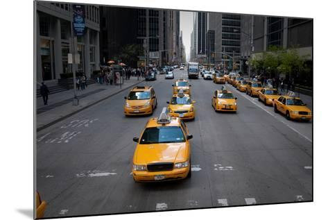 NYC Taxi Cabs-Erin Berzel-Mounted Photographic Print