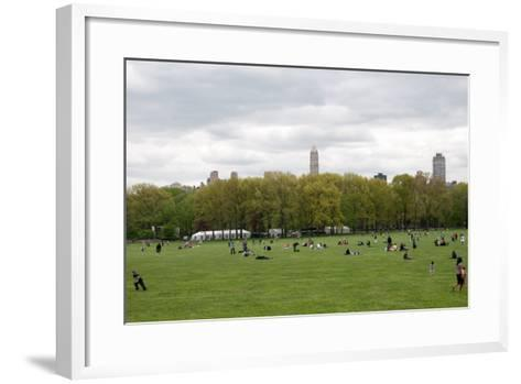Spring in Central Park-Erin Berzel-Framed Art Print