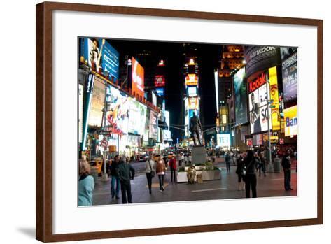Times Square I-Erin Berzel-Framed Art Print