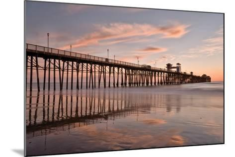 Pier Sunset 1-Lee Peterson-Mounted Photographic Print
