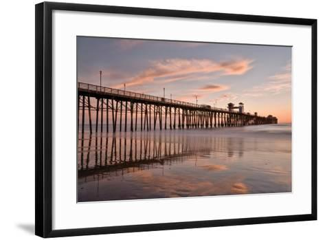 Pier Sunset 1-Lee Peterson-Framed Art Print