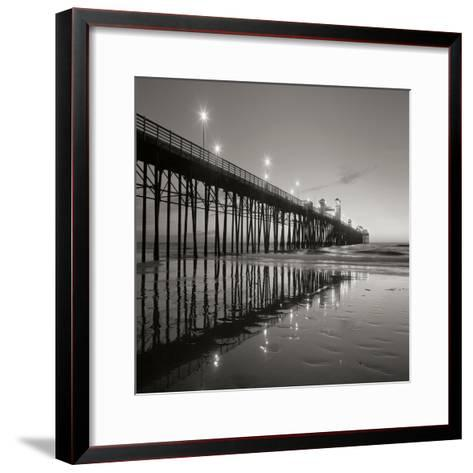 Pier Night Square II-Lee Peterson-Framed Art Print