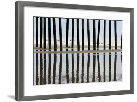 Pier Pilings 23-Lee Peterson-Framed Art Print