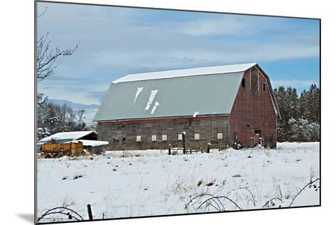 Red Barn in Winter-Dana Styber-Mounted Photographic Print