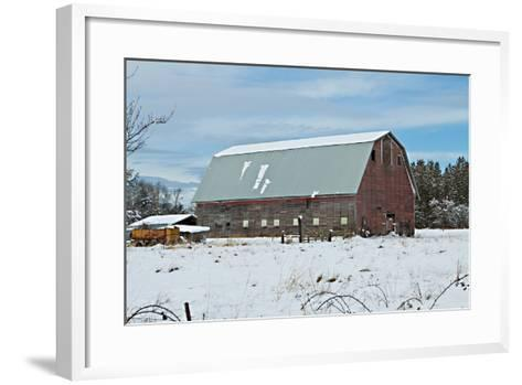 Red Barn in Winter-Dana Styber-Framed Art Print