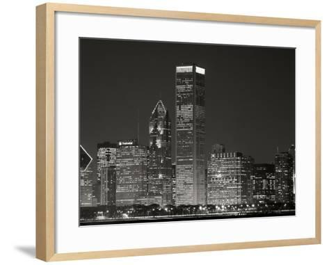 Downtown Chicago II-Bob Stefko-Framed Art Print