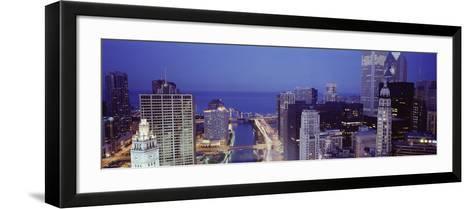 Chicago Skyline II-Bob Stefko-Framed Art Print