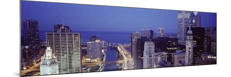 Chicago Skyline II-Bob Stefko-Mounted Photographic Print