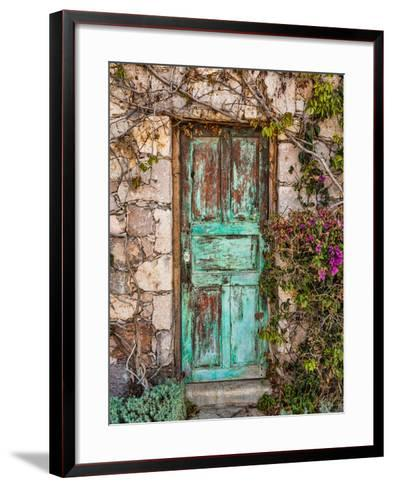 Doorway in Mexico II-Kathy Mahan-Framed Art Print