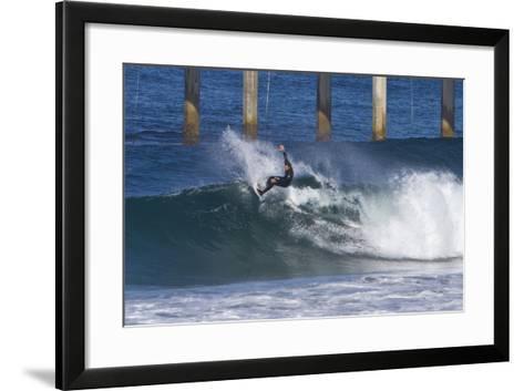 Surfing IV-Lee Peterson-Framed Art Print