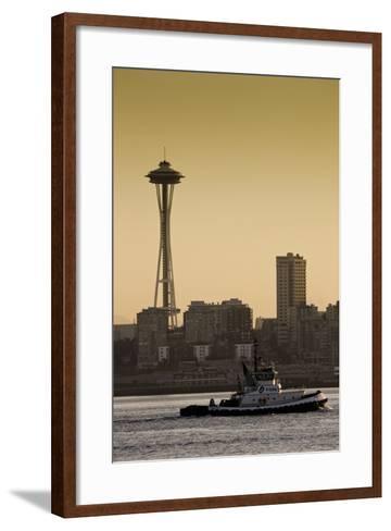 Space Needle IV-Bob Stefko-Framed Art Print