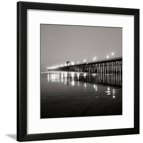 Pier Night 1-Lee Peterson-Framed Art Print