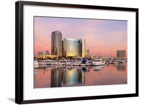 San Diego Waterfront II-Kathy Mahan-Framed Art Print