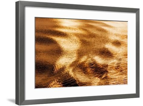 Golden Water I-Kathy Mahan-Framed Art Print