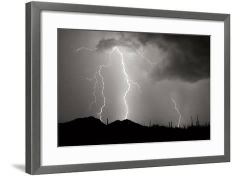 Striking Symmetry II BW-Douglas Taylor-Framed Art Print