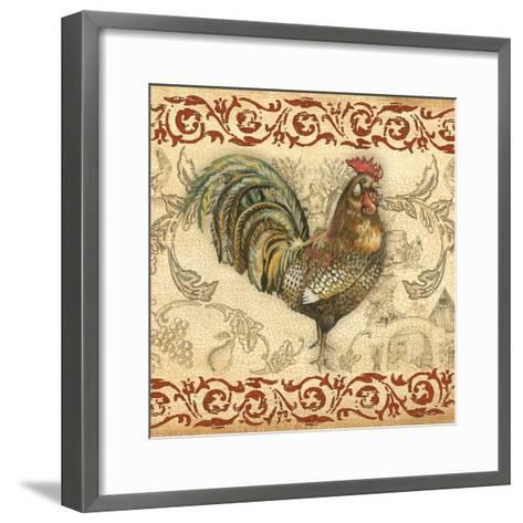 Toile Rooster III-Gregory Gorham-Framed Art Print