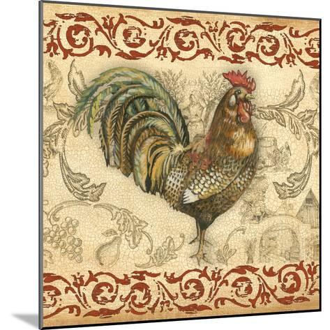 Toile Rooster III-Gregory Gorham-Mounted Photographic Print