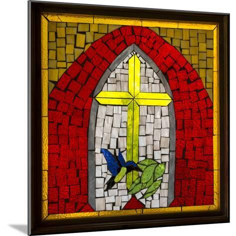 Stained Glass Cross II-Kathy Mahan-Mounted Photographic Print