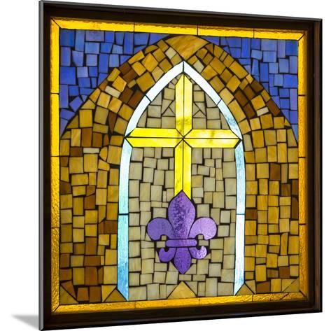 Stained Glass Cross III-Kathy Mahan-Mounted Photographic Print