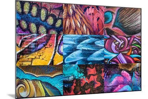 Graffiti I-Kathy Mahan-Mounted Photographic Print