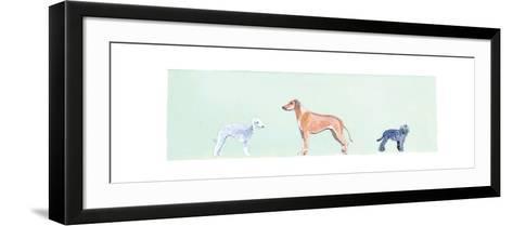 Dogs Panel I-Debbie Nicholas-Framed Art Print